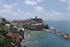 panoramautsikt över vernazza