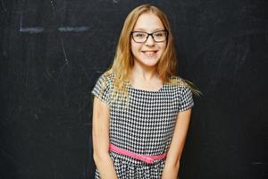 tjej i skolan foto