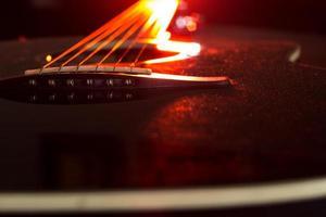 röd gitarr foto