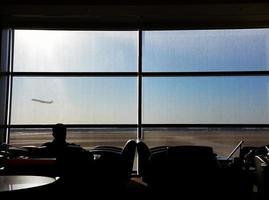 flygplats lounge foto