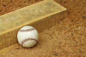 baseboll på kannan hög foto
