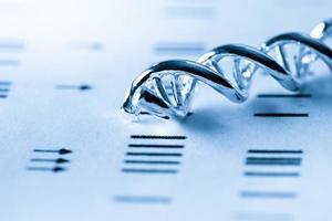 dna, molekylärt laboratorietest foto