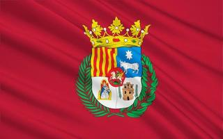 Teruel flagga - en stad i Spanien foto