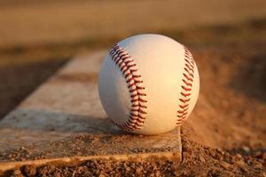 baseboll på kannor höggummi foto