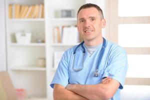 glada läkare foto