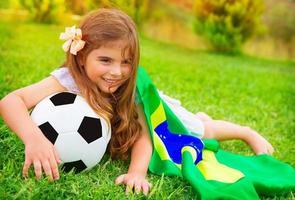 unga glada fotbollsfan foto