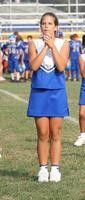 ungdom tonåring cheerleader jublande foto