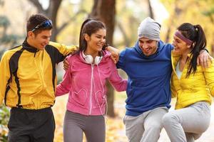 höst jogging foto
