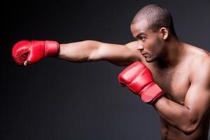 man boxning. foto
