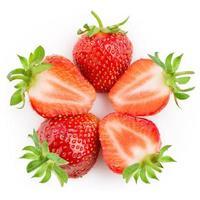 jordgubbe. bär isolerad på vitt foto