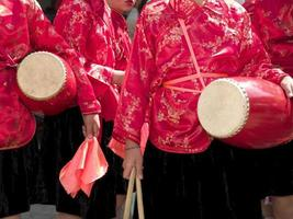 kinesiska trummisflickor foto