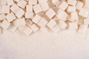vitgranulerad och raffinerad sockertextur