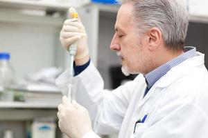 forskare som arbetar i ett laboratorium foto