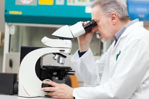 forskare som arbetar i ett laboratorium