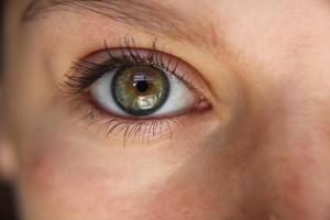 ögon på nära håll foto