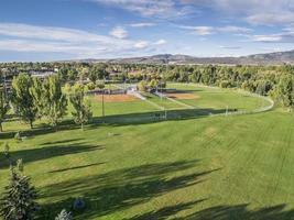 baseball fält aerail view foto