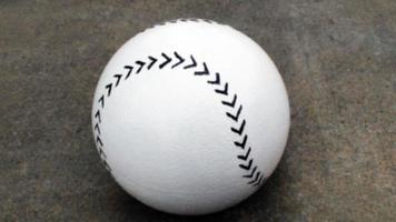 närbild av baseball