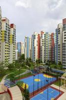 färgglada grannskap foto
