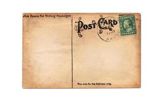 gammalt, tomt vykort med kopieringsutrymme foto