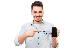 kopiera utrymme på sin telefon. foto