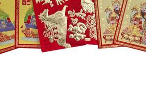 kinesiska nyårets röda paket med kopieringsutrymme foto