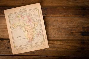 1867, gammal färgkarta över Afrika, med kopieringsutrymme foto