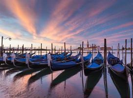 Venedig, Italien och solig dag foto