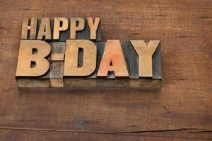 lycklig b-dag (födelsedag) foto