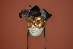 karnevalmask från Venedig, Italien foto