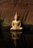 reflektion buddha foto