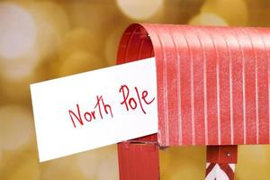 brev till nordpolen foto