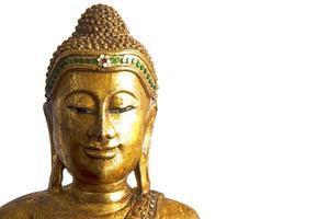 skulptur av buddha huvud foto