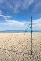beachvolleyboll, fält vid det baltiska havet foto