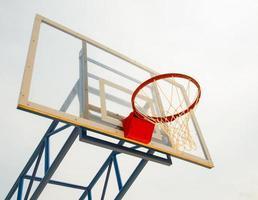 basket hoop och nät foto