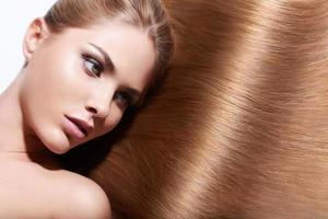 glänsande hår foto