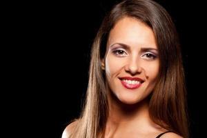 ung vacker kvinna med födelsemärke foto