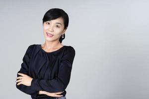 attraktiv asiatisk kvinnabild foto