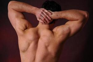 stretching man foto