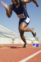 manlig idrottare foto