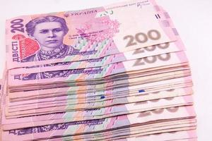 ukrainska hryvnian på nära håll foto