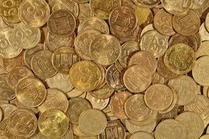 ukrainska mynt på nära håll foto