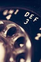 vintage telefon närbild