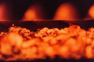 eldstad på nära håll foto