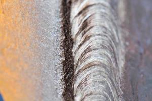 stålsvets på nära håll foto