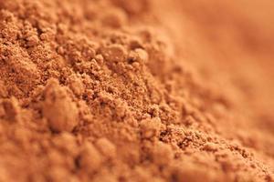 kakaopulver på nära håll foto