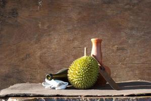 närbild av durian foto