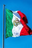 mexikanska flaggan på nära håll foto
