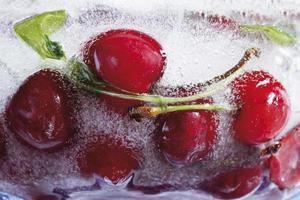 frysta körsbär, närbild