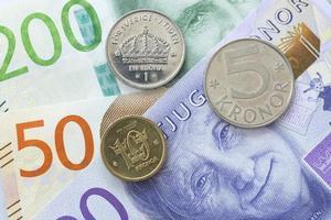 svensk valuta på nära håll foto