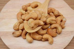 rå cashewnär närbild foto